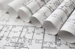 Projet architectural, modèles, blueprin photo libre de droits