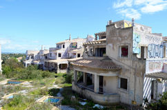 Projet de construction non fini abandonné d'Algarve images libres de droits