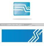 Projet computer1 de vecteur Image stock