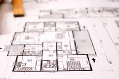 Projet d'architecture image stock