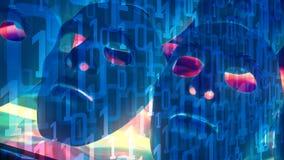 Projet d'avenir d'intelligence artificielle d'AI, données de code binaire d'ordinateur illustration de vecteur