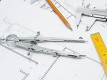 Projet de compas Photo libre de droits