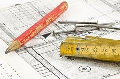 Projet de construction Photo libre de droits