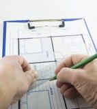Projet de construction Photographie stock libre de droits