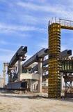 Projet de construction d'Abadoned Photo libre de droits