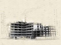 Projet de construction en cours illustration de vecteur