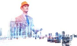 Projet de développement industriel Media mélangé Photos stock