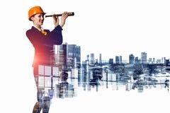 Projet de développement industriel Media mélangé Image libre de droits