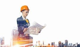 Projet de développement industriel Media mélangé Photo stock
