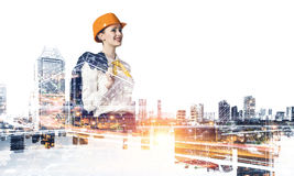 Projet de développement industriel Media mélangé Photographie stock libre de droits