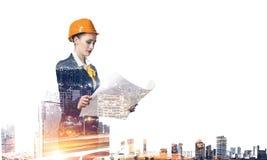 Projet de développement industriel Media mélangé Media mélangé Photographie stock