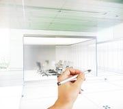 Projet de dessin de main Photographie stock libre de droits