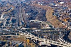 Projet de Montréal Turcot images libres de droits