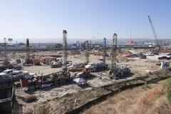 Projet de nouvelle construction passage de San Ysidro/du Mexique à frontières Images stock