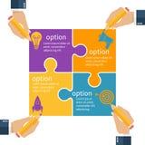 Projet de planification d'équipe d'affaires Image stock