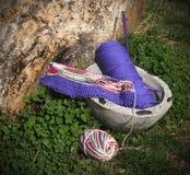 Projet de tricotage Photographie stock