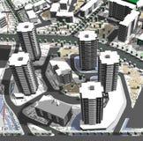 Projet des zones résidentielles Image libre de droits