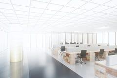 Projet du futur bureau de l'espace ouvert illustration libre de droits