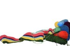 Projet et fil de crochet photo libre de droits