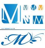 Projet m2 d'alphabet de vecteur Images libres de droits