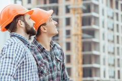 Projet masculin de profession d'ingénierie de construction de bâtiments de travail photo libre de droits