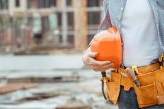Projet masculin de profession d'ingénierie de construction de bâtiments de travail photos libres de droits