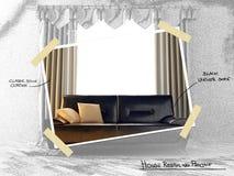 Projet restyling de Chambre illustration stock