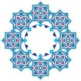 Projetado com máscaras das séries azuis sete do teste padrão do otomano Foto de Stock Royalty Free