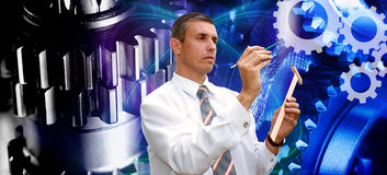 Projetando a tecnologia industrial Imagem de Stock