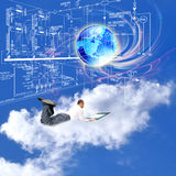 Projetando tecnologias de projeto Foto de Stock Royalty Free
