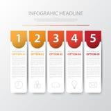 Projete bandeiras lisas /graphic do número de etapa da sombra ou Web site Vect Imagens de Stock