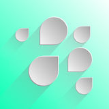 Projete bolhas do discurso na luz - fundo verde Imagem de Stock Royalty Free