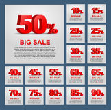 Projete cartazes para a venda Fotos de Stock