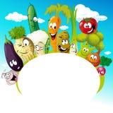 Projete com desenhos animados vegetais engraçados - vector a ilustração Imagens de Stock