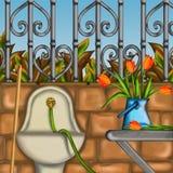 Tulipa no jardim Imagem de Stock Royalty Free