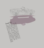 Projete com um carro do vintage - a lápis desenho Fotos de Stock
