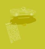 Projete com um carro do vintage - a lápis desenho Fotografia de Stock