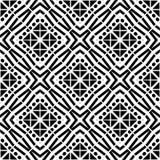 Projete da zebra geométrica branca do preto do vetor do teste padrão a cultura decorativa do tapete ilustração do vetor