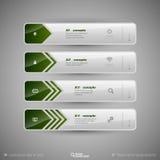 Projete elementos, infographics, disposição e página da web Symb moderno Foto de Stock