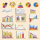 Projete a ilustração do vetor dos elementos da carta do diagrama do molde dos dados do infographics do gráfico da folha de fluxo  ilustração stock