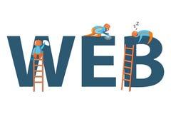 Projete o conceito moderno da ilustração do vetor da palavra da WEB Fotos de Stock Royalty Free