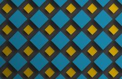 Projete o fundo com flutuação de rombos azuis e amarelos do dif Fotos de Stock