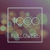 Projete o número do molde de seguidores no fundo abstrato do bokeh imagens de stock