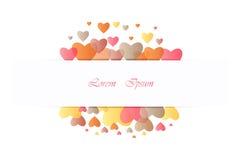 Projete para o dia de são valentim com coração completo da cor no backgrou branco Fotografia de Stock