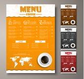 Projete um menu para o café, as lojas ou as cafetarias com tração da mão ilustração royalty free