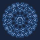 Projeto árabe - beira circular ou ornamento arredondado Fotos de Stock Royalty Free