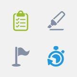 Projeto - ícones do granito ilustração stock