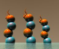 projeto 0014 dos objetos do logotipo 3D Fotos de Stock
