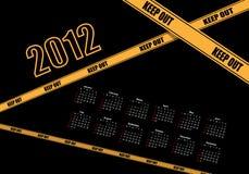 Projeto 2012 do calendário ilustração stock