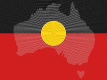 Projeto aborígene da bandeira Fotografia de Stock